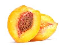 Half of peach Stock Photography