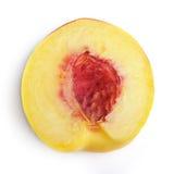 Half of peach Royalty Free Stock Image