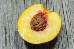 Half peach close-up  Stock Photography