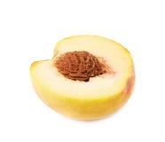 Half of a peach fruit isolated Stock Photo