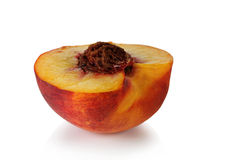 Half a peach. Stock Image