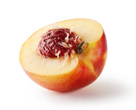 Half peach with stone Royalty Free Stock Photography