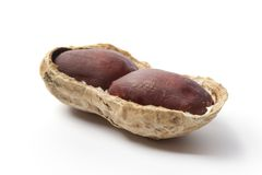 Half a Peanut in the shell Royalty Free Stock Photo
