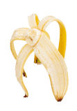 Half peeled banana Royalty Free Stock Photography