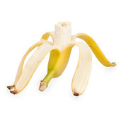 Half peeled banana Stock Photo