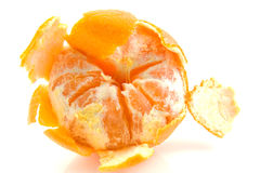 Half peeled mandarin Royalty Free Stock Photo
