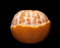 Half the peeled mandarin Royalty Free Stock Photo