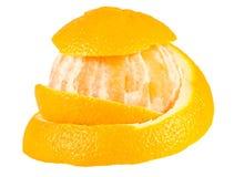 Half peeled orange Royalty Free Stock Photos