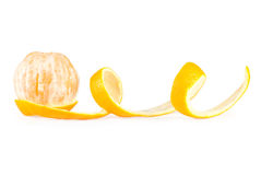 Half peeled orange Stock Photos