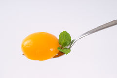 Half of peeled peach Royalty Free Stock Images