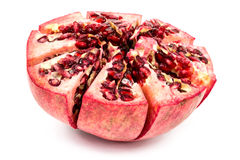 Half peeled pomgranate Stock Images