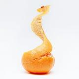Half peeled tangerine Royalty Free Stock Image