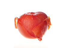 Half Peeled Tomato Royalty Free Stock Images