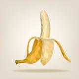 Half peeled triangulated banana. Royalty Free Stock Photography