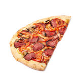 Half of a pepperoni pizza Stock Image