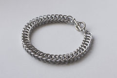 Half Persian Chainmail Bracelet. Photo of a handmade Half Persian Chainmail bracelet Royalty Free Stock Photography
