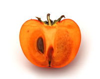 Half of persimmon Royalty Free Stock Image