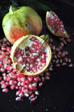 Half Piece of Fresh Pomegranate Stock Photography