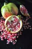 Half Piece of Fresh Pomegranate Stock Photography