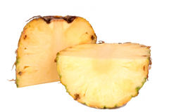 Half of pineapple. Close-up Stock Photography