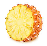 Half of pineapple isolated on a white. Half of pineapple isolated on a white background Royalty Free Stock Photography