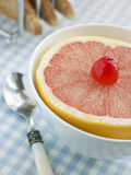Half a Pink Grapefruit Stock Images
