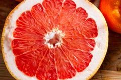 Half a pink grapefruit. Royalty Free Stock Image