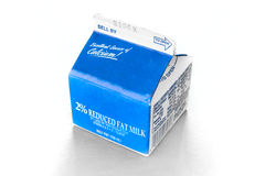 Half pint carton of milk Stock Images