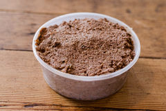 Half Pint Chopped Liver in white container Stock Images