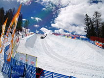 HALF PIPE. Fis world cup grand finals 2008 - big air snowboard Royalty Free Stock Image