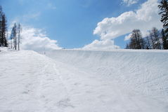 Half pipe. A halfpipe for snowboard sport Royalty Free Stock Photography