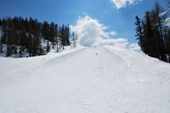 Half pipe. A halfpipe for snowboard sport Stock Image