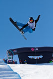 Half Pipe snowboard Stock Photo