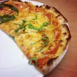 Half pizza stock photo
