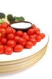 Half a plate of veggies. Picture of a half a plate of veggies Royalty Free Stock Image