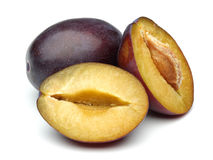 Half Plum and Plum Royalty Free Stock Photo