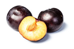 Half of plum, tilt shift lens Royalty Free Stock Photography