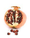 half pomegranate royaltyfri foto