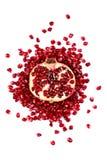 Half of a pomegranate Royalty Free Stock Photos