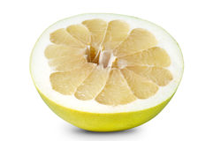 Half of pomelo isolated on white with clipping Stock Image
