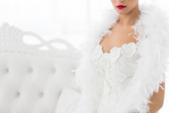 Half portrait of beautiful bride Stock Photo