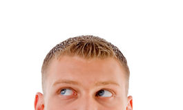 Half pose male's face looking sideways Stock Photo