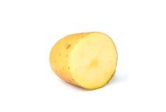 Half of the potato closeup isolated. Half of the potato closeup isolated on white background royalty free stock photo