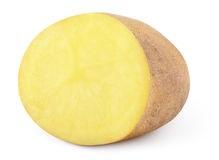 Half of potato isolated on white. Background with clipping path stock photos