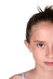 Half of pretty girl's face Stock Image