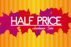 Half price autumn background Stock Photo