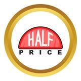 Half price label vector icon Royalty Free Stock Image