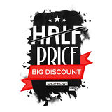 Half Price Sale Poster, Banner or Flyer design. Stock Photography