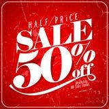 Half price sale poster. Eps10 vector illustration