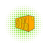 Half price, special offer icon, comics style Royalty Free Stock Photography